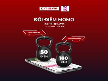 Tích điểm Momo: tấm vé miễn phí vào thiên đường tập luyện CITIGYM