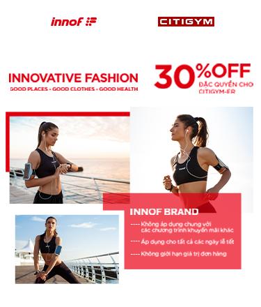 """Trở thành Gymer """"fashionista"""": Đặc quyền giảm 30% khi mua đồ tập tại Innof !"""