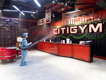 CITIGYM triển khai phun khử trùng trên toàn hệ thống